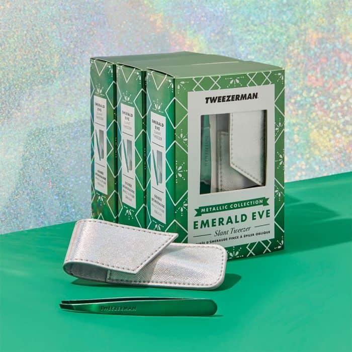Emerald Eve Slant Tweezer & Pouch