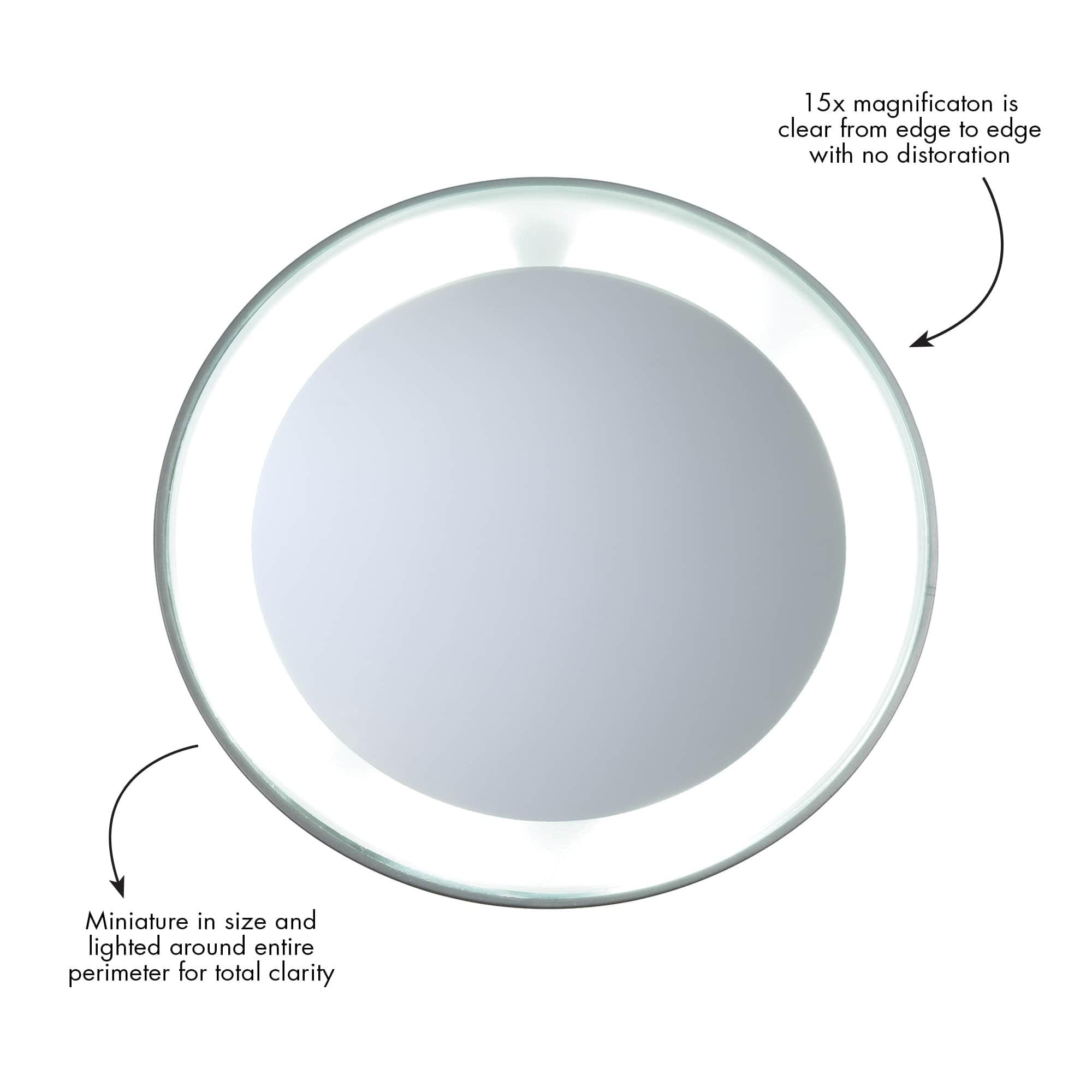 LED 15x Mini Mirror 6796-R | Tweezerman UK
