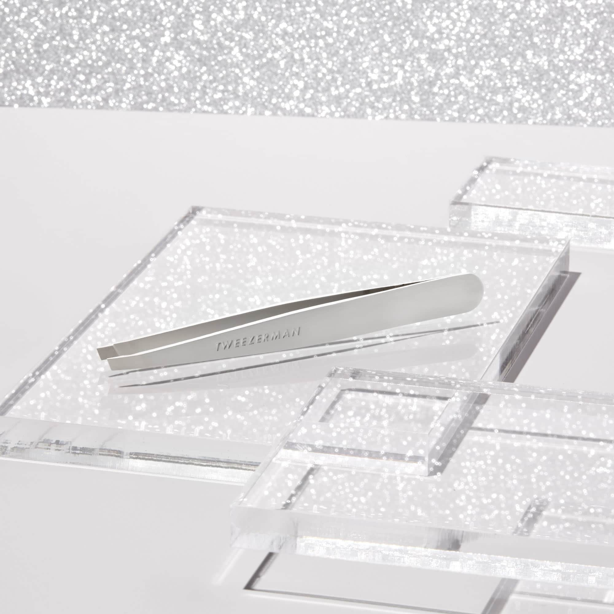 Tweezerman Limited Edition Platinum Slant Tweezer