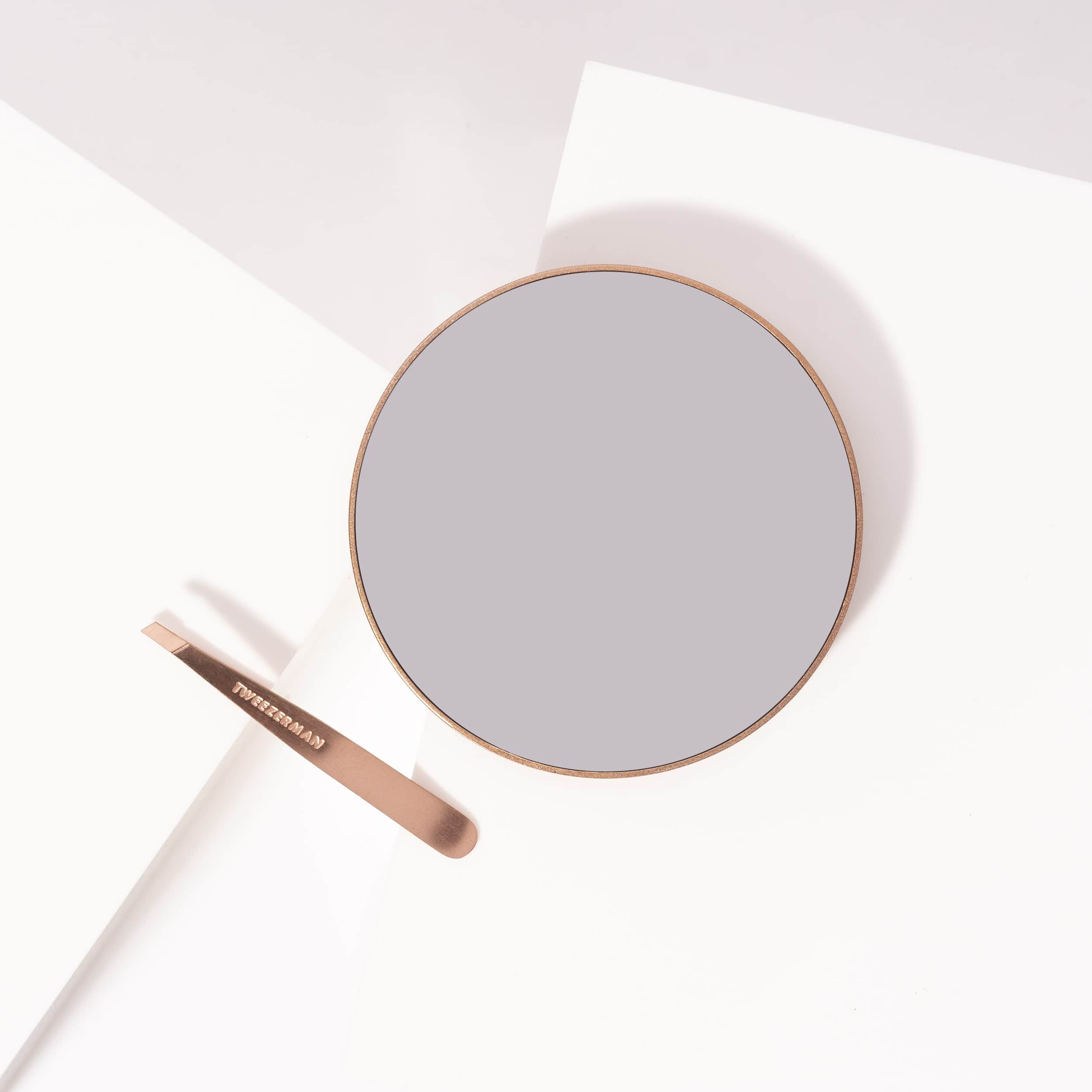 Rose Gold Mini Slant & 10x Mirror Duo
