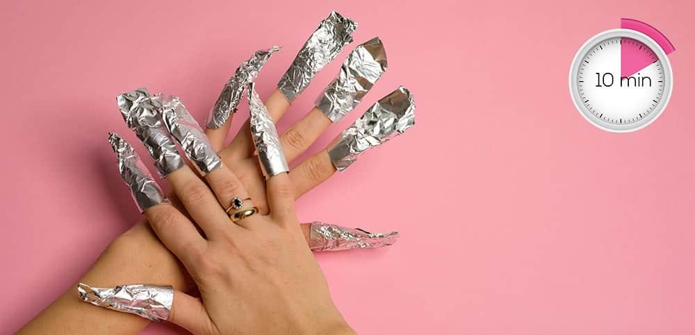 removing gel nail polish